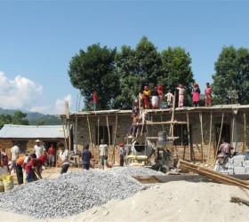 School bouwen in Nepal